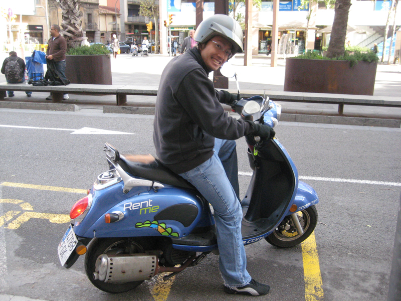 Ride a Scooter in Europe – Barcelona, Spain