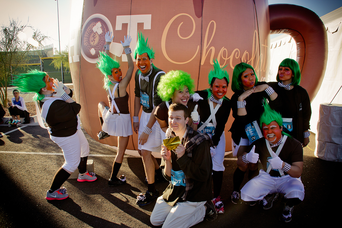 Oompa Loompas Invade the Hot Chocolate Run