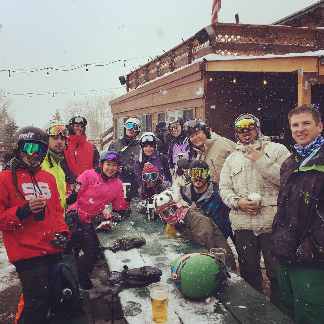 Snowboarding ReUnion Ride 2017
