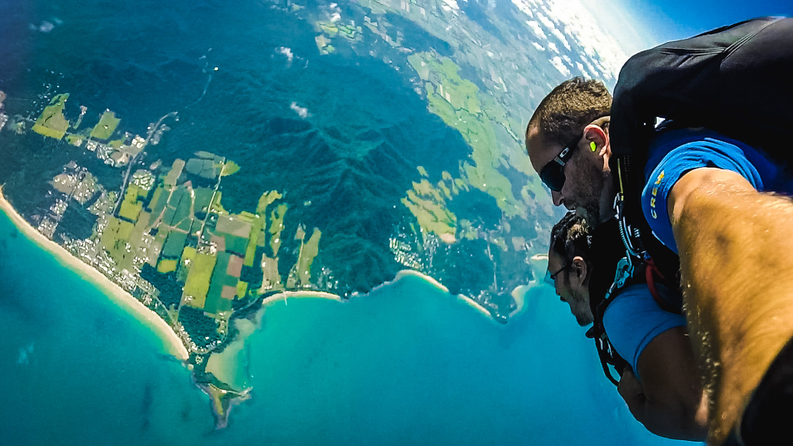 Skydiving by the Beach in Australia
